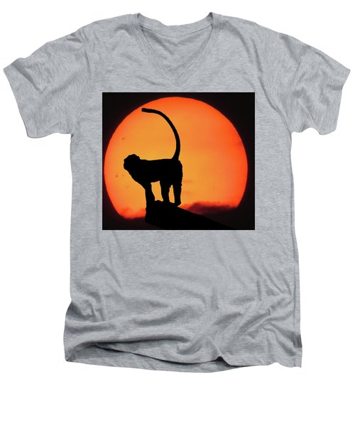 As The Day Ends Men's V-Neck T-Shirt by Martin Newman