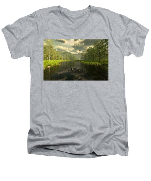 As The River Flows Men's V-Neck T-Shirt