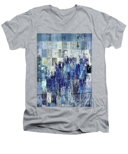Men's V-Neck T-Shirt featuring the digital art Ascension - C03xt-160at2c by Variance Collections