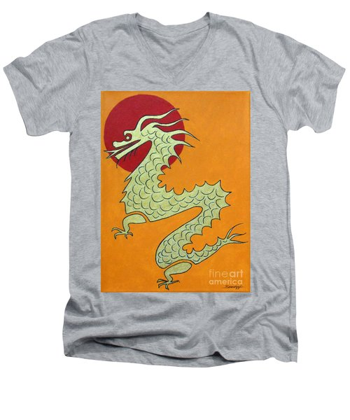 Asian Dragon Icon No. 1 Men's V-Neck T-Shirt