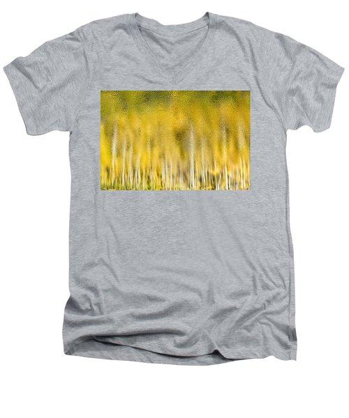 Aspen Abstract Men's V-Neck T-Shirt