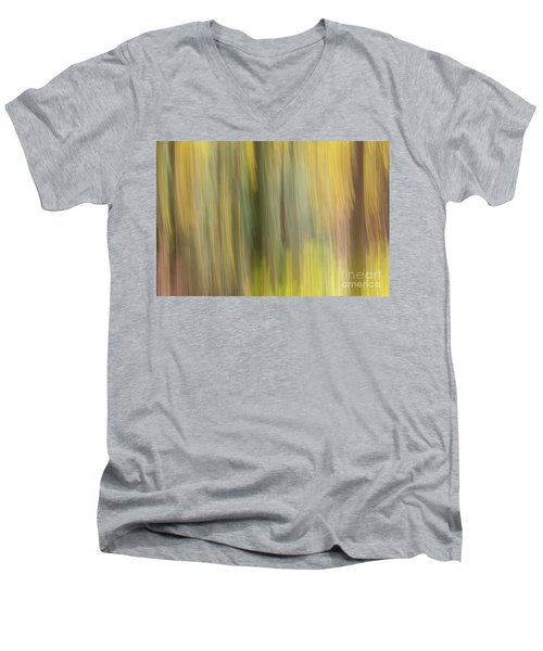Men's V-Neck T-Shirt featuring the photograph Aspen Blur #2 by Vincent Bonafede