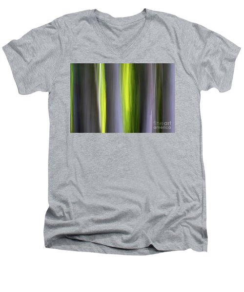 Men's V-Neck T-Shirt featuring the photograph Aspen Blur #7 by Vincent Bonafede