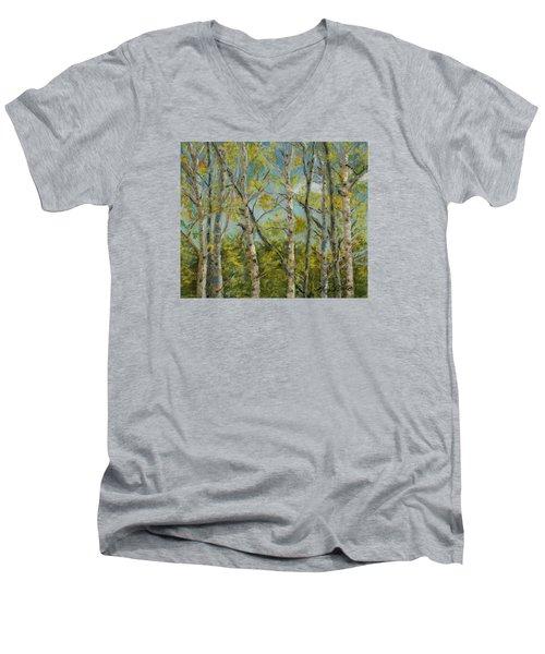 Aspen Glow Men's V-Neck T-Shirt