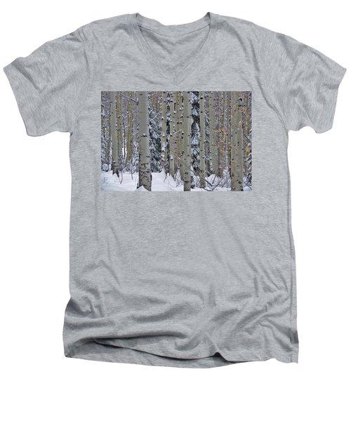 Aspen Snow Men's V-Neck T-Shirt by Matt Helm