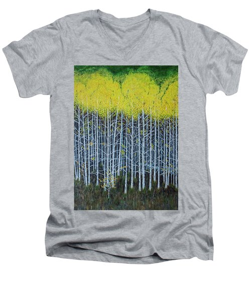 Aspen Stand The Painting Men's V-Neck T-Shirt