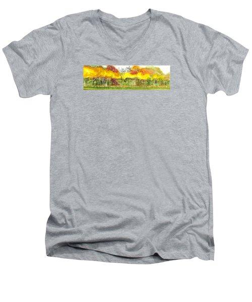 Aspen Trees In Autumn Men's V-Neck T-Shirt