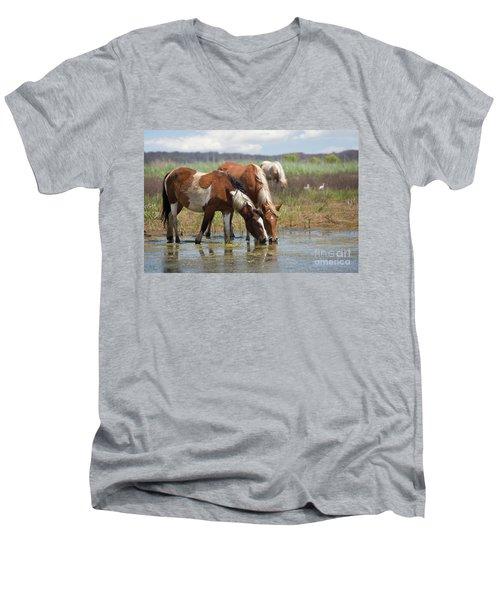 Assateague Ponies Tale Drink Men's V-Neck T-Shirt