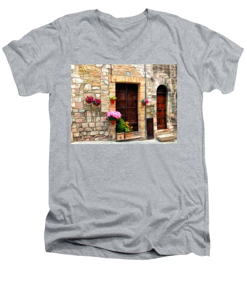 Assisi Doorways Men's V-Neck T-Shirt