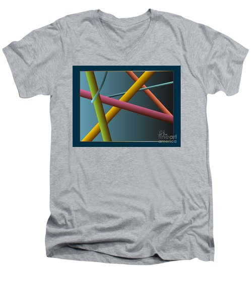 Assumption Men's V-Neck T-Shirt by Leo Symon