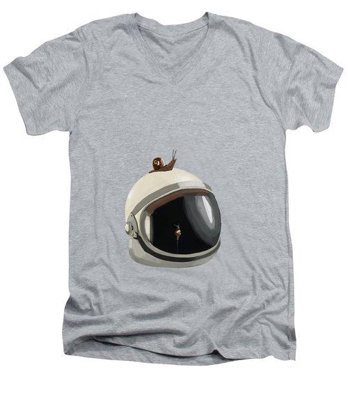 Astronaut's Helmet Men's V-Neck T-Shirt by Keshava Shukla