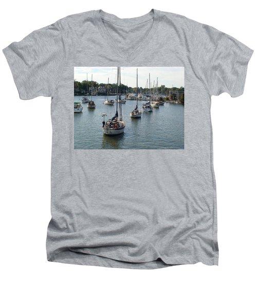 At Anchor Men's V-Neck T-Shirt by Charles Kraus