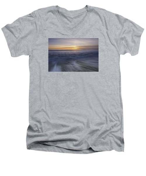At Beach Men's V-Neck T-Shirt by Catherine Lau