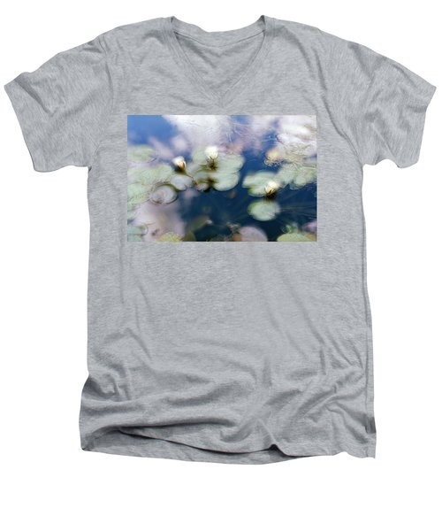 At Claude Monet's Water Garden 4 Men's V-Neck T-Shirt