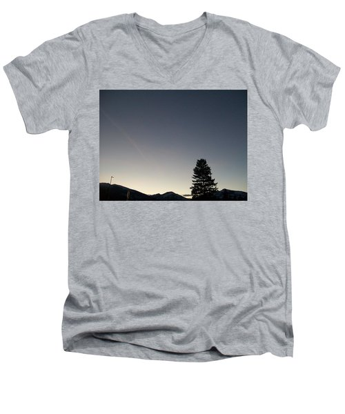 Men's V-Neck T-Shirt featuring the photograph At Dusk by Jewel Hengen