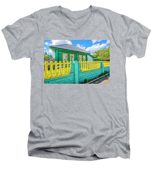 At Home In Belarus Men's V-Neck T-Shirt