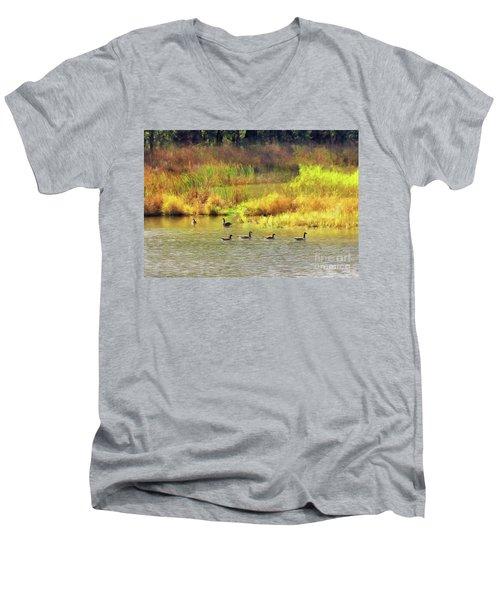 At Home In Monee Men's V-Neck T-Shirt