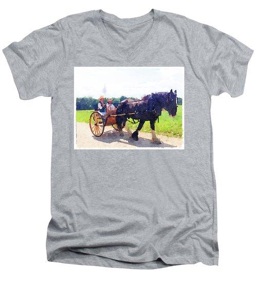 At Mount Vernon Men's V-Neck T-Shirt