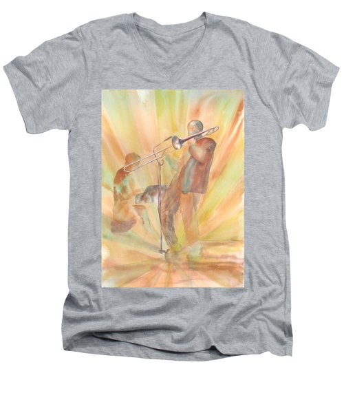 At One With The Music Men's V-Neck T-Shirt