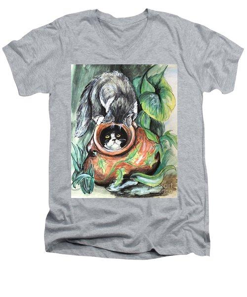 At Play Men's V-Neck T-Shirt