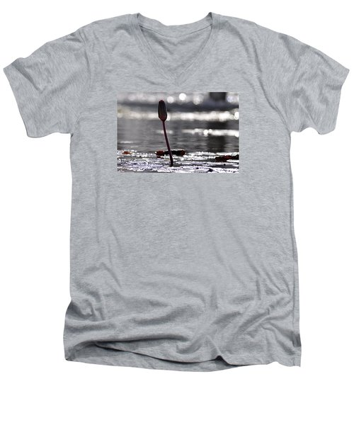 Men's V-Neck T-Shirt featuring the photograph At Rabin Square, Tel Aviv by Dubi Roman