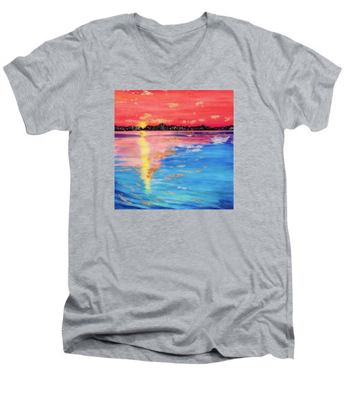 At Sunset Men's V-Neck T-Shirt