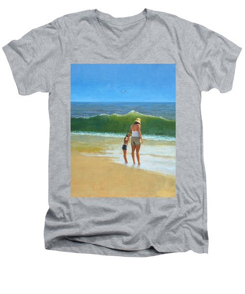 At The Beach Men's V-Neck T-Shirt