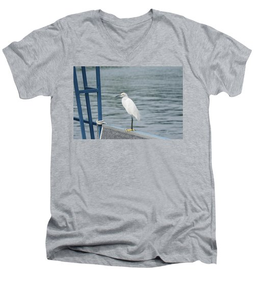 Men's V-Neck T-Shirt featuring the photograph At The Edge by Kim Hojnacki