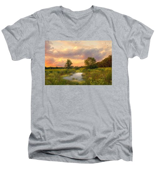 At The End Of The Day Men's V-Neck T-Shirt