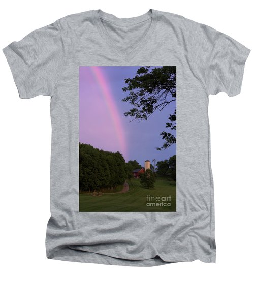At The End Of The Rainbow Men's V-Neck T-Shirt by Nicki McManus