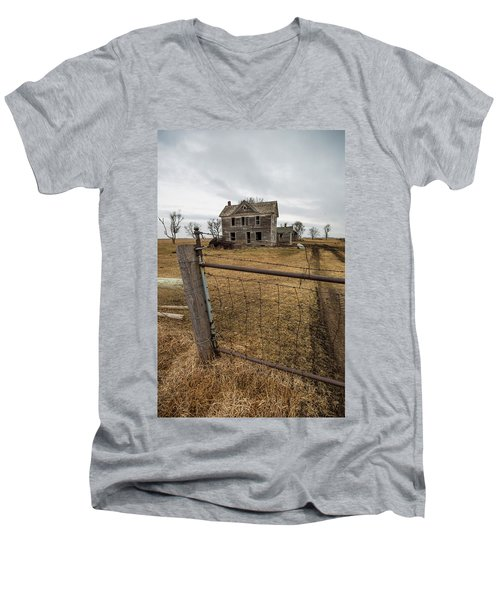 Men's V-Neck T-Shirt featuring the photograph At The Gate  by Aaron J Groen