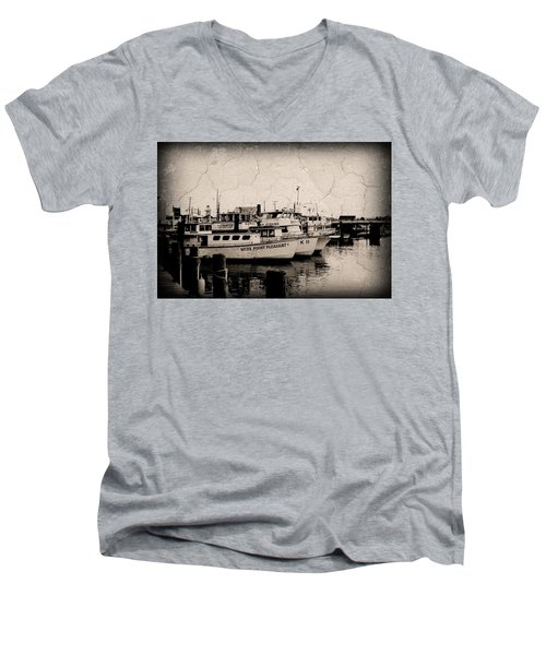 At The Marina - Jersey Shore Men's V-Neck T-Shirt