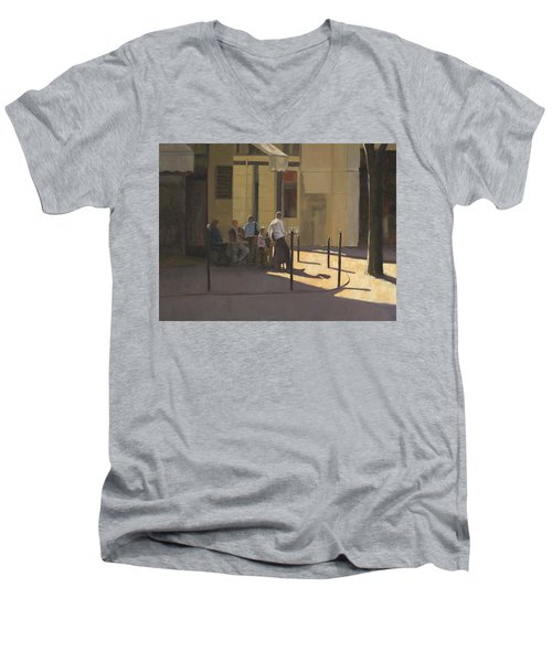 At The Street Cafe Men's V-Neck T-Shirt