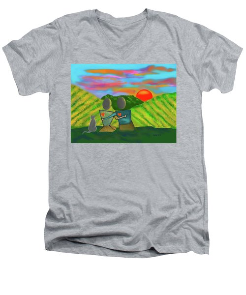 At The Vineyard Men's V-Neck T-Shirt
