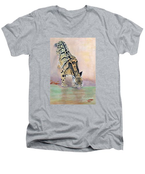 At The Waterhole - Painting Men's V-Neck T-Shirt