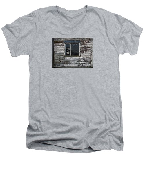 At The Window Men's V-Neck T-Shirt