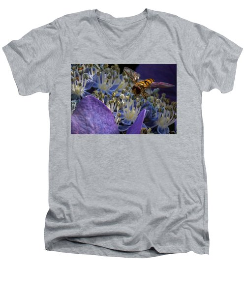 At Work Men's V-Neck T-Shirt