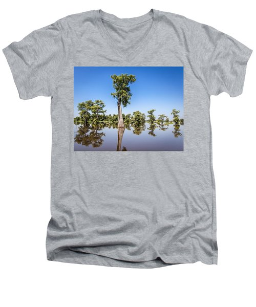 Atchafalaya Cypress Tree Men's V-Neck T-Shirt