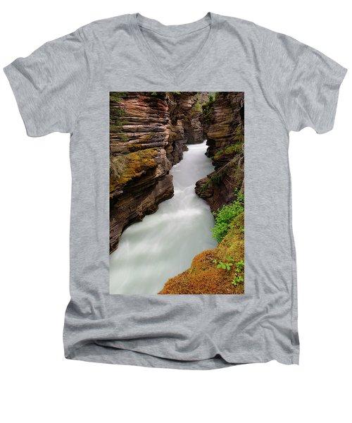 Athabasca Falls  Men's V-Neck T-Shirt
