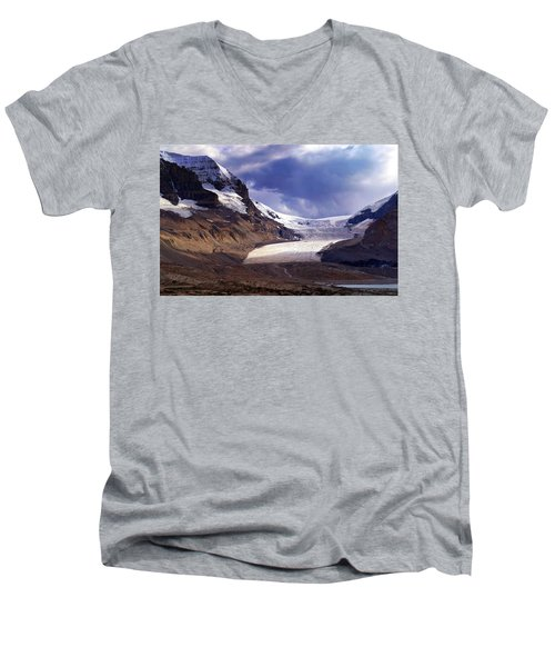 Athabasca Glacier Men's V-Neck T-Shirt by Heather Vopni