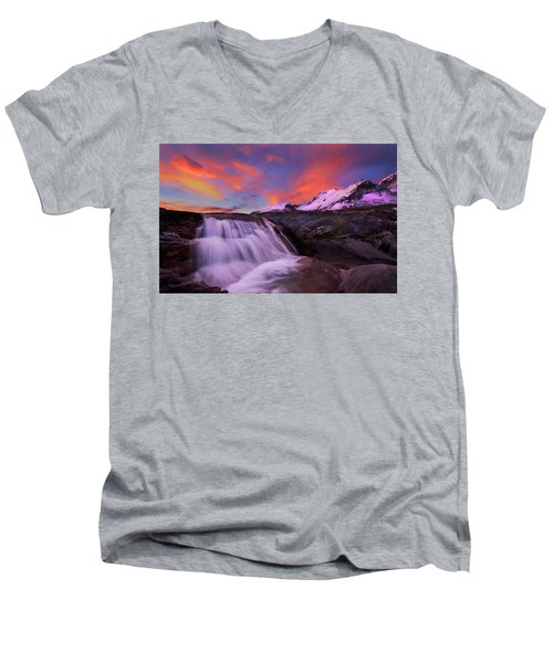Athabasca On Fire Men's V-Neck T-Shirt by Dan Jurak