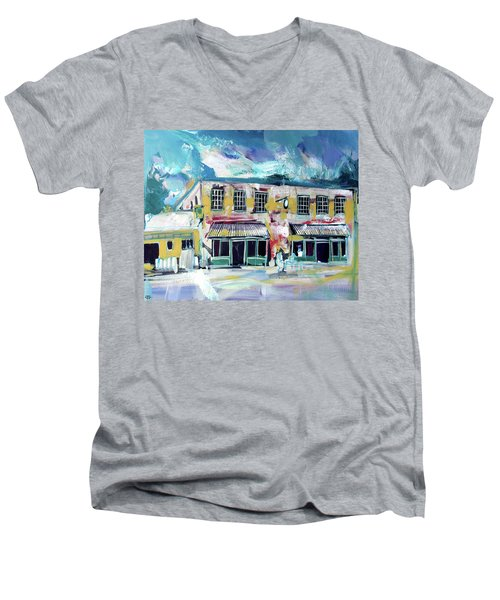 Athens Ga The Grit Men's V-Neck T-Shirt