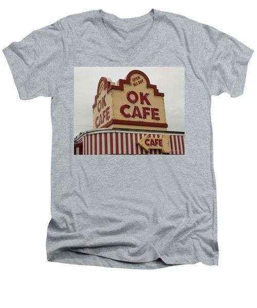 Atlanta Classic Ok Cafe Atlanta Restaurant Art Men's V-Neck T-Shirt