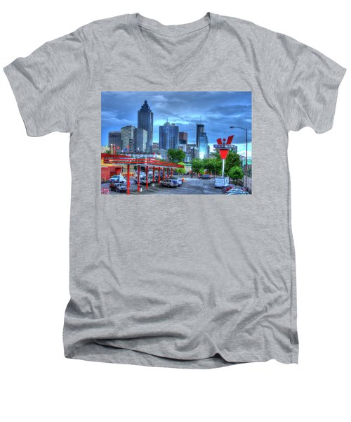 Atlanta Landmark The Varsity Art Men's V-Neck T-Shirt