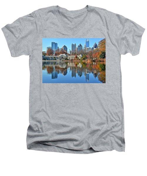 Atlanta Reflected Men's V-Neck T-Shirt