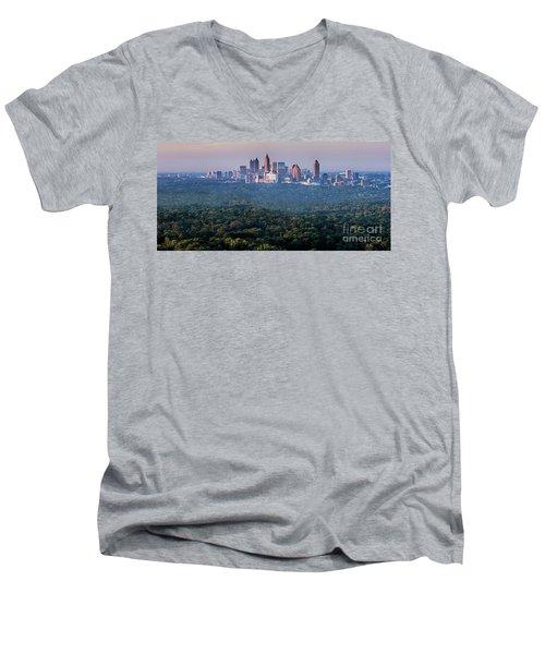 Atlanta Skyline Men's V-Neck T-Shirt