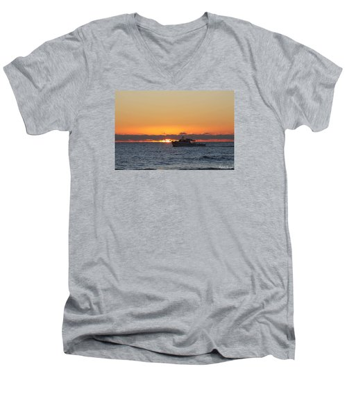 Atlantic Ocean Fishing At Sunrise Men's V-Neck T-Shirt