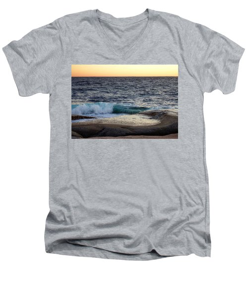 Atlantic Ocean, Nova Scotia Men's V-Neck T-Shirt by Heather Vopni