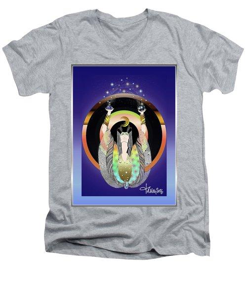 Atlantis - Copper Ring Energy Alchemy Men's V-Neck T-Shirt