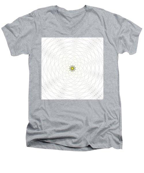 Atomic Lotus No. 1 Men's V-Neck T-Shirt